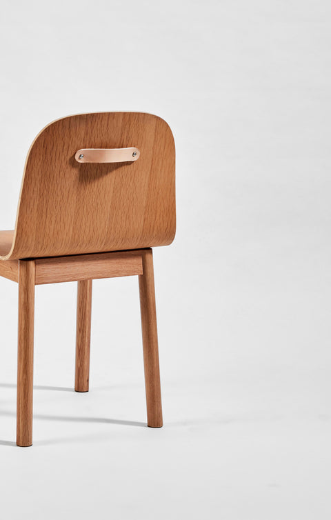 Potato Chair | Timber Dining Office Chair with Handle | GibsonKarlo | DesignByThem