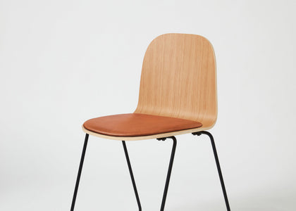 Potato Chair | Stacking Sled Timber & Upholstered Dining Office Chair with Handle | GibsonKarlo | DesignByThem | Gallery