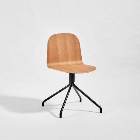 Potato Chair | Swivel Timber Dining Office Chair with Handle | GibsonKarlo | DesignByThem