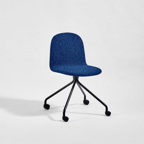 Potato Chair - Upholstered - Swivel with Castors