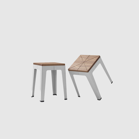 Timber Tuck Stool | Low Stools & Benches | Nicholas Karlovasitis & Sarah Gibson | DesignByThem