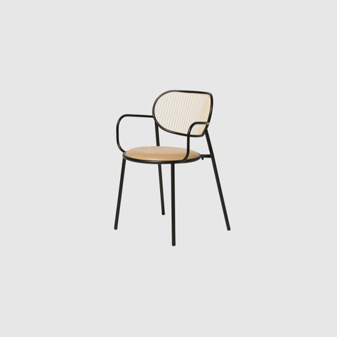 Piper Dining Chair Upholstered | Fabric or Leather Seat Stackable | Designed by GibsonKarlo | DesignByThem