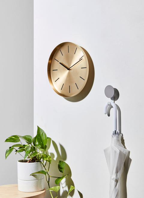 Radial Clock | Large Brass Wall Clock | DesignByThem