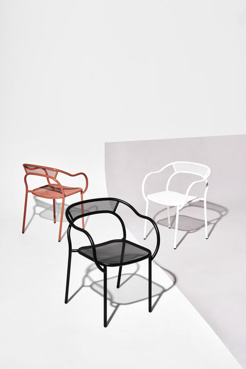 Soda Chair by Marcel Sigel for DesignByThem | Powder Coated Stainless Steel | Stackable Indoor Outdoor
