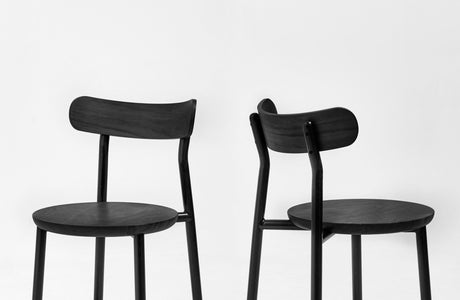 Them Chair Black Stained | Ash & Walnut Timber & Metal Dining Chair | GibsonKarlo | DesignByThem | Gallery
