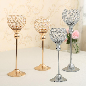 Vintage Crystal Tealight Candle Holders