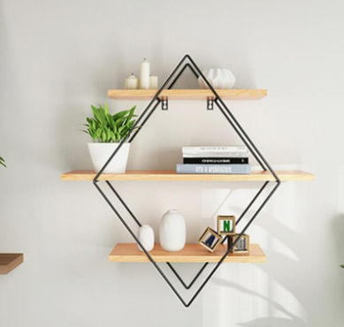 Rhombus Wrought Iron wall Shelf