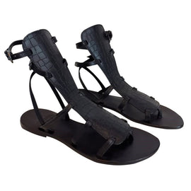 Gladiator - Black Gladiator Boots Sandal - CAPRI LIFESTYLE READY MADE GARMENTS TRADING L.L.C