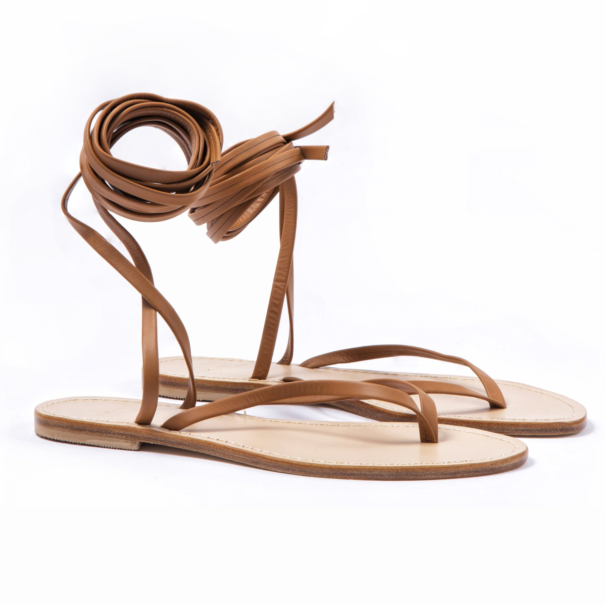 Caprese - Brown Flat Sandals Strappy