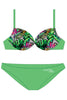 BCP006 - Girls Two Piece Push-up Bikini Swimwear - Beach Party Mood