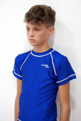 BRV015-Boy's Plain Rashvest Short Sleeves - CAPRI LIFESTYLE READY MADE GARMENTS TRADING L.L.C