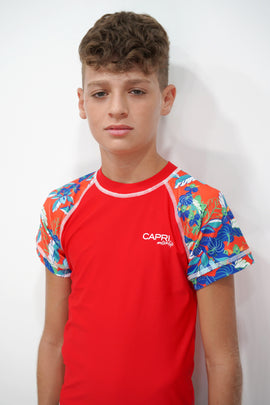 BRV023-Boy's Rashvest Short Sleeves - Esotic Mood - CAPRI LIFESTYLE READY MADE GARMENTS TRADING L.L.C