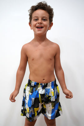 BSH02-Boy's Tactel Printed Board Shorts - Fun Mood - CAPRI LIFESTYLE READY MADE GARMENTS TRADING L.L.C