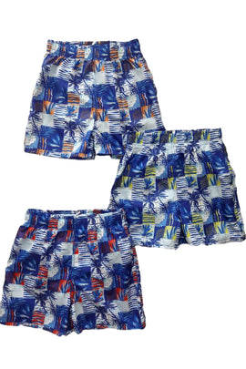BSH03-Boy's Tactel Printed Board Shorts - CAPRI LIFESTYLE READY MADE GARMENTS TRADING L.L.C