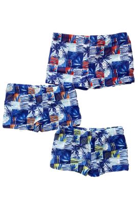 BST03-Boy's Printed Lycra Shorts - CAPRI LIFESTYLE READY MADE GARMENTS TRADING L.L.C
