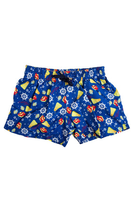BSW04-Boy's Tactel Printed Board Shorts - Fun Mood - CAPRI LIFESTYLE READY MADE GARMENTS TRADING L.L.C