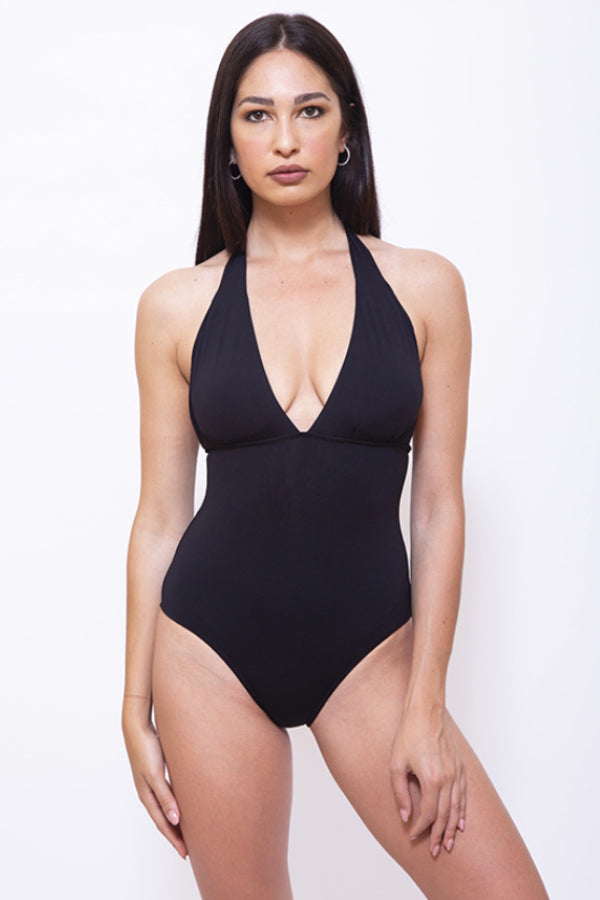 CRI004-Women One Piece Halter Swimsuit