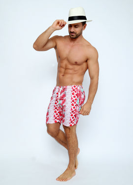 ENJ001-Men's Swimshort - Enjoy Summer Mood Printed - CAPRI LIFESTYLE READY MADE GARMENTS TRADING L.L.C