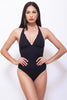 FRANCI-Women One Piece Halter Swimsuit
