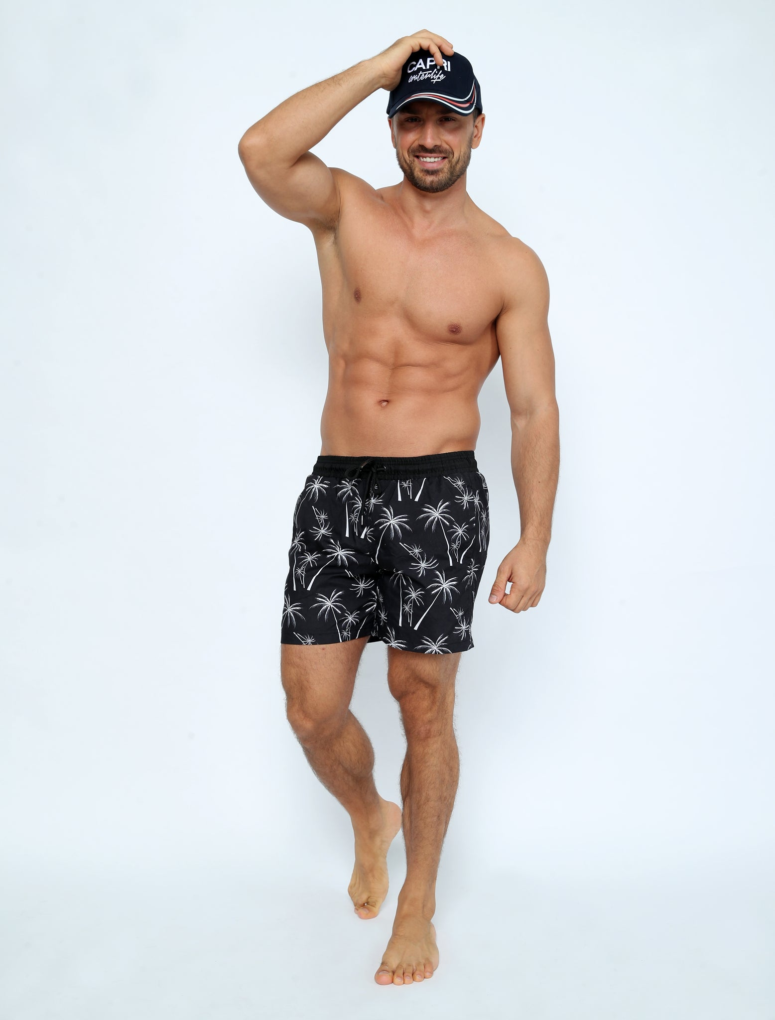 GRA-SH1-Men's Swimhort with Side and Back Pocket