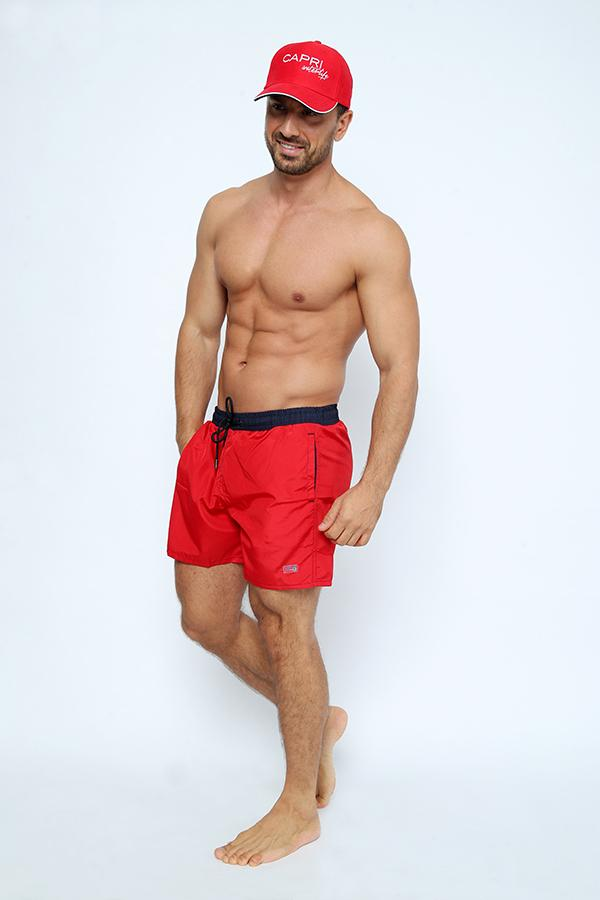 GRA-SH7-Men's Swimshort with Bi-Colored belt