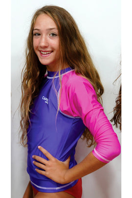 GRV014-Girls Plain Rashvest Long Sleeves - CAPRI LIFESTYLE READY MADE GARMENTS TRADING L.L.C