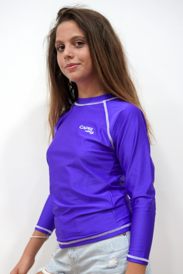 GRV014-Girls Plain Rashvest Long Sleeves
