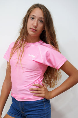 GRV015-Girls Plain Rashvest Short Sleeves - CAPRI LIFESTYLE READY MADE GARMENTS TRADING L.L.C