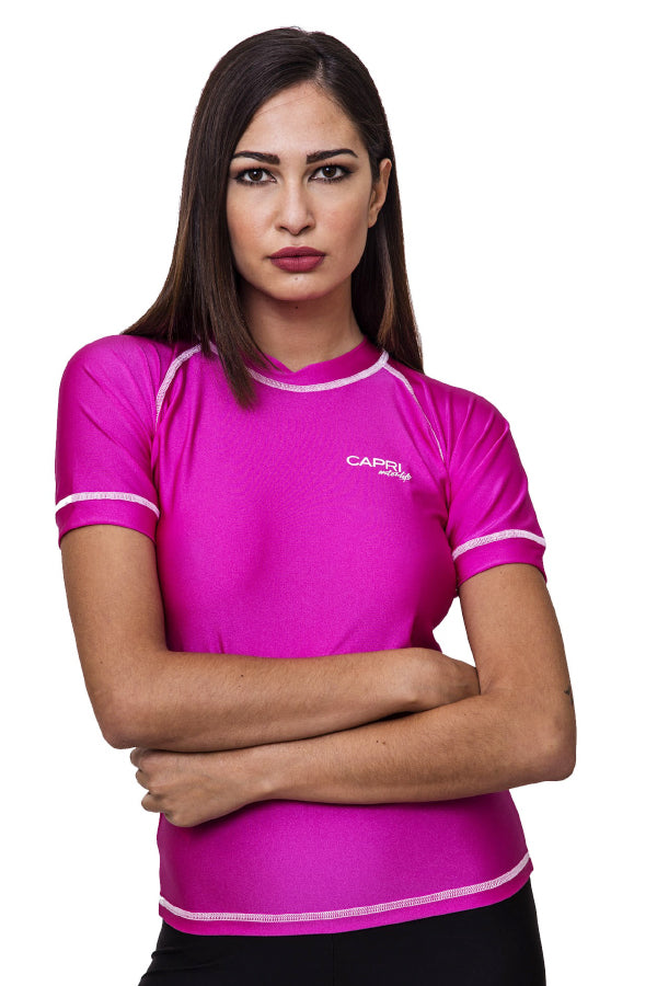 LRV13-Women Plain Rashvest Short Sleeves