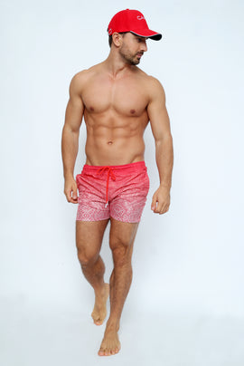 MAO001-Men's Swimshort - Maori Mood Printed - CAPRI LIFESTYLE READY MADE GARMENTS TRADING L.L.C