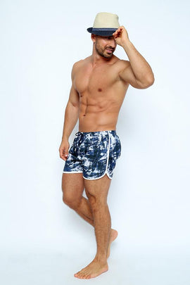 MIM002-Men's Bordato Swimshort - Mimetic Mood Printed - CAPRI LIFESTYLE READY MADE GARMENTS TRADING L.L.C