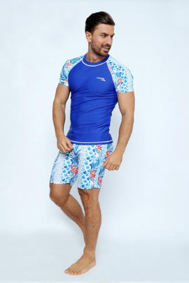 MRV18-Men's Rashvest Short Sleeves with Enjoy Summer Mood Printed - CAPRI LIFESTYLE READY MADE GARMENTS TRADING L.L.C