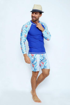 MRV19-Men's Rashvest Long Sleeves with Enjoy Summer Mood Printed - CAPRI LIFESTYLE READY MADE GARMENTS TRADING L.L.C