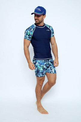 MRV20- Men's Rashvest Short Sleeves with Esotic Mood Printed - CAPRI LIFESTYLE READY MADE GARMENTS TRADING L.L.C