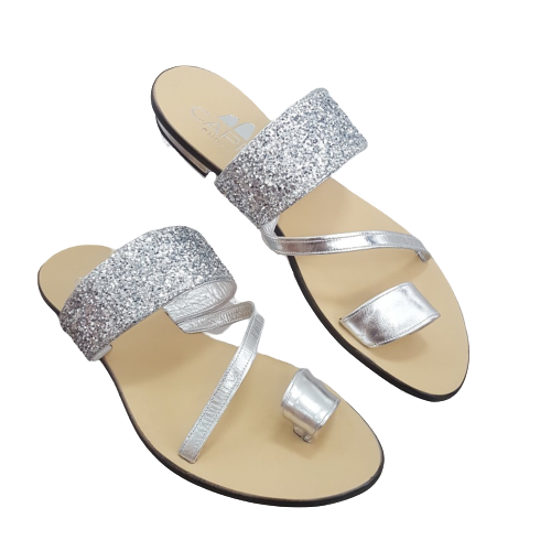 DIVA-A-Ladies Flat Shoes - Argento (Silver)