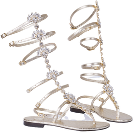 CL05A10 - Gladiator Sandals - RIVPLA / laminato platino - CAPRI LIFESTYLE READY MADE GARMENTS TRADING L.L.C