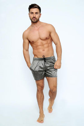 SH007-Men's Lurex Swim short with pocket - CAPRI LIFESTYLE READY MADE GARMENTS TRADING L.L.C