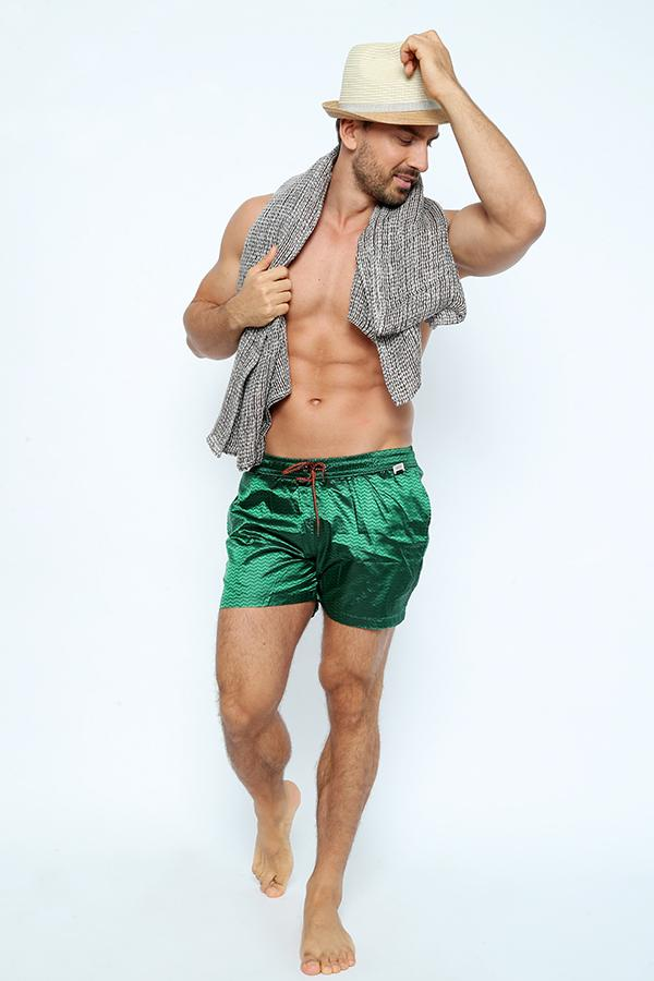 SH007-Men's Lurex Swim short with pocket