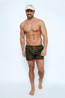 SH025-Men's Bordato Plain Swimshort - CAPRI LIFESTYLE READY MADE GARMENTS TRADING L.L.C