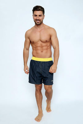 SH04-Men's Swimshort with Bi-Colored belt - CAPRI LIFESTYLE READY MADE GARMENTS TRADING L.L.C