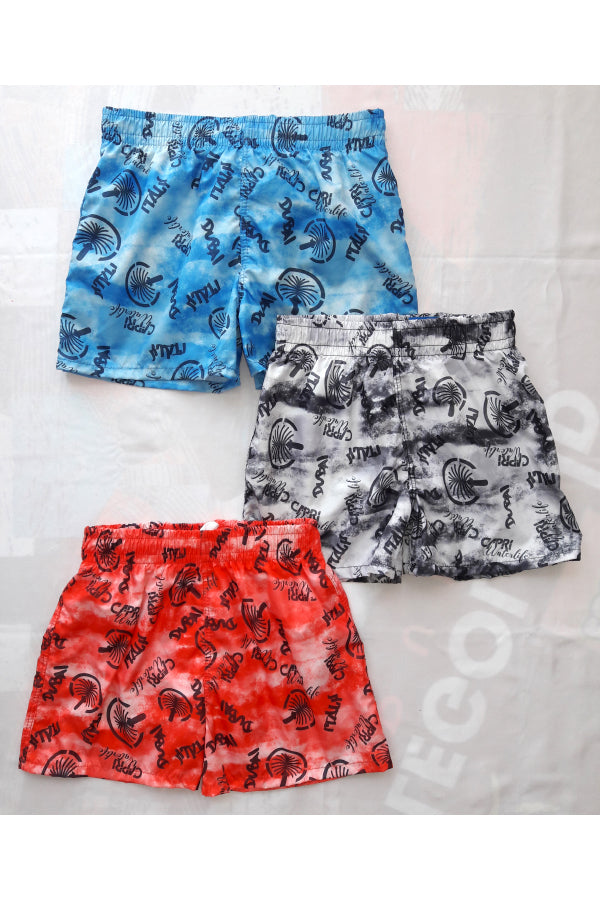 SHVI03-Boy's Tactel Printed Board Shorts - Dubai Mood