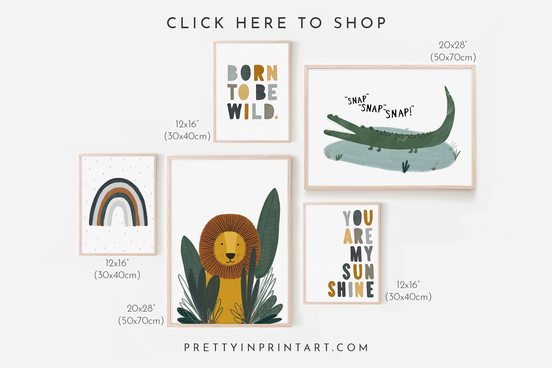 gallery-wall-template-ideas-wall-art-prints-animal-safari-theme-nursery-wall-art-printables-lion-born-to-be-wild-kids-jungle-theme