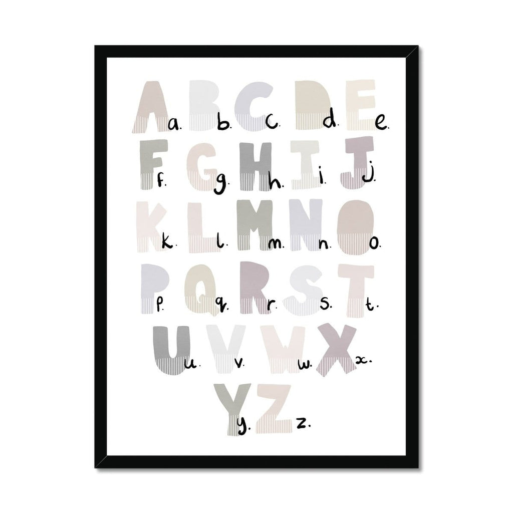 Alphabet Chart - Natural |  Framed Print