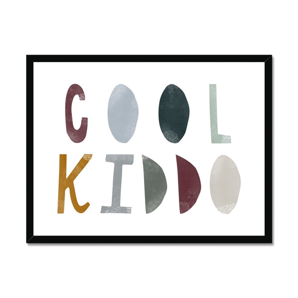Cool Kiddo - Woodland |  Framed Print