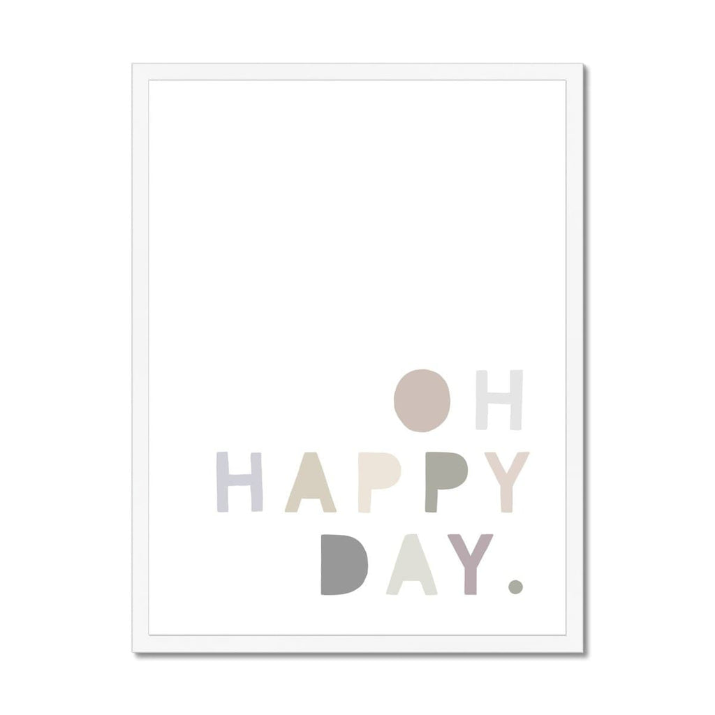 Oh Happy Day - Natural |  Framed Print