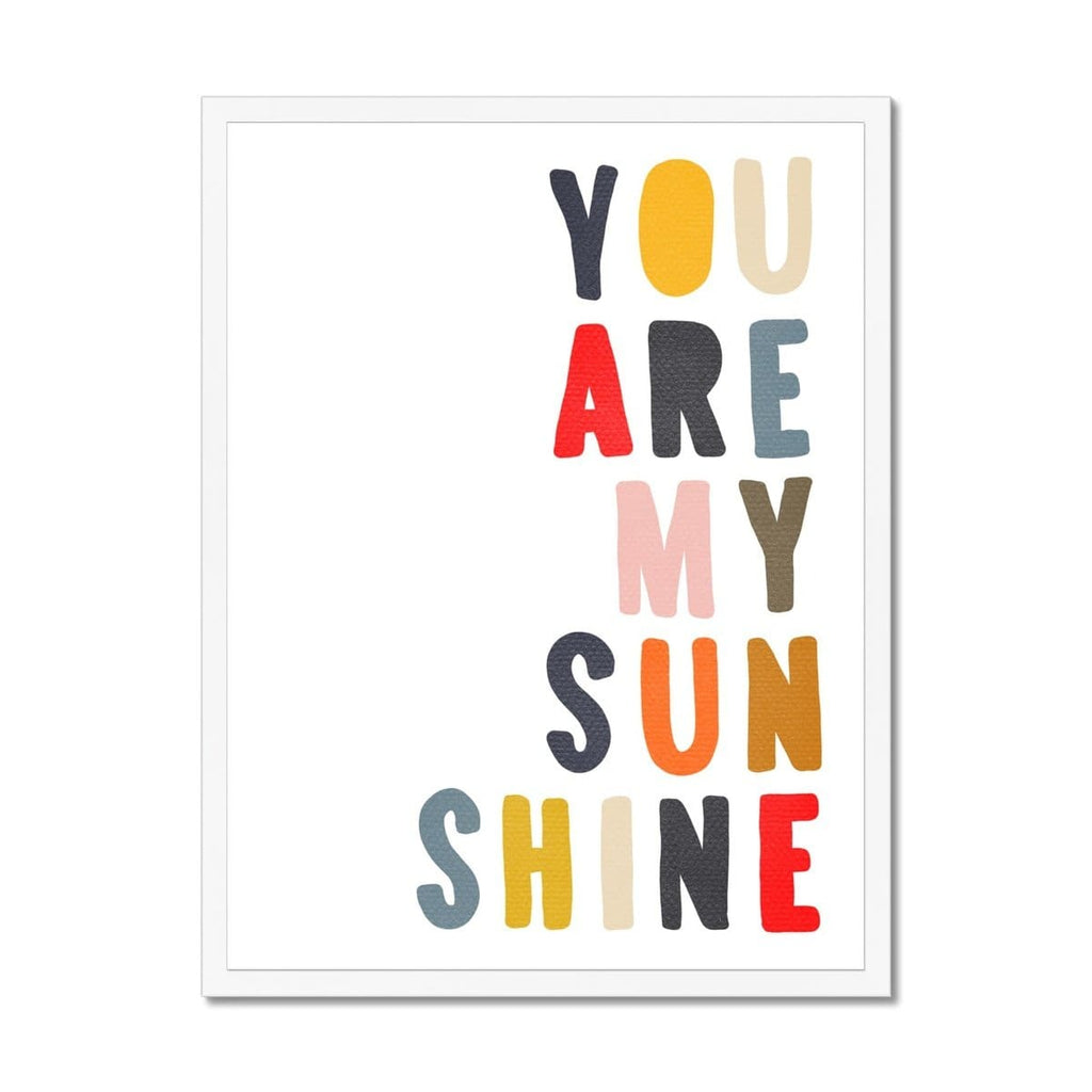 You Are My Sunshine - Muted Rainbow |  Framed Print