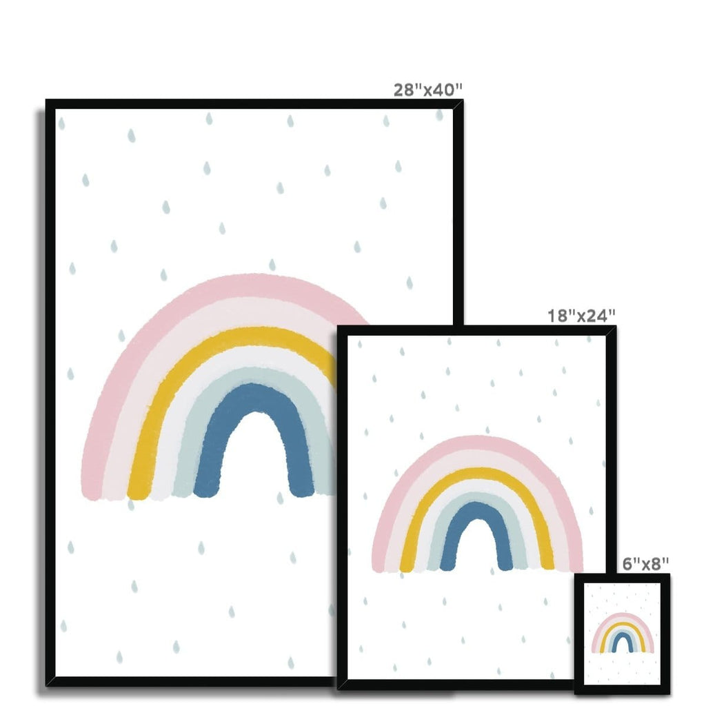 Rainbow Wall Art - Matches H&M Cushion |  Framed Print