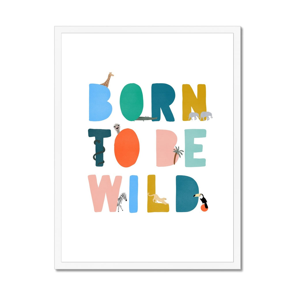Born To Be Wild Print - Brights Illustrated |  Framed Print