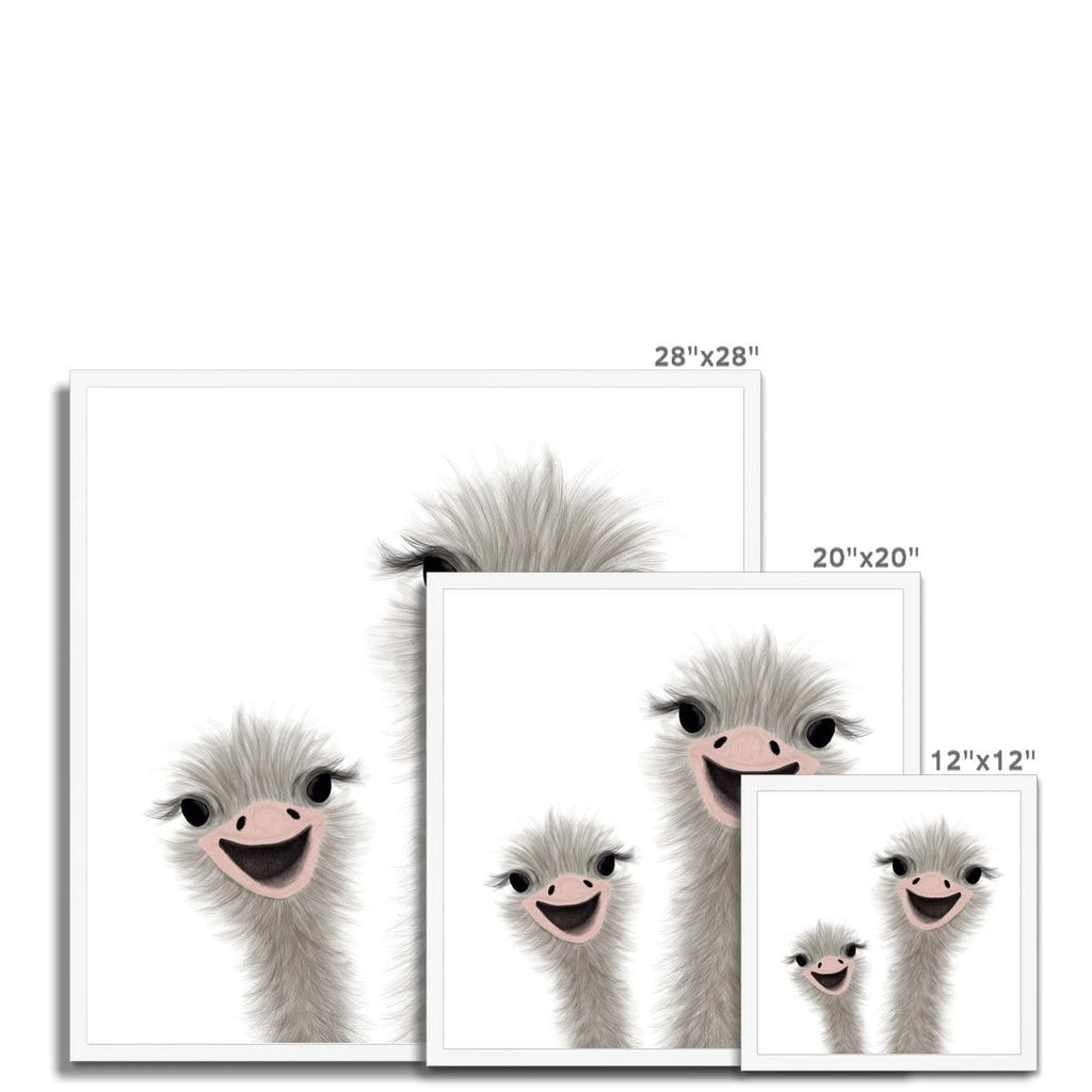 Ostrich - Children's Animal Art |  Framed Print