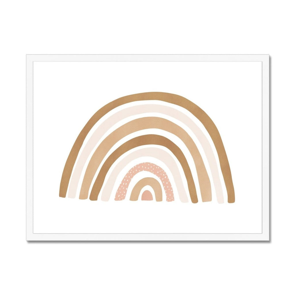 Scandi Rainbow - Burnt Umber |  Framed Print
